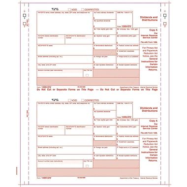 TOPS® 1099DIV Tax Form, 4 Part, White, 9