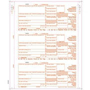"TOPS® 1099PATR Tax Form, 4 Part, White, 9"" x 3 2/3"", 102 Forms/Pack"