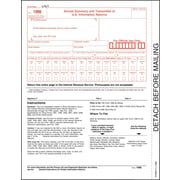 "TOPS® 1096 Tax Form, 1 Part, White, 8 1/2"" x 11"", 50 Sheets/Pack"
