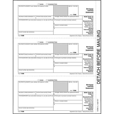 TOPS® 1098 Tax Form, 1 Part, Recipient - Copy C, White, 8 1/2