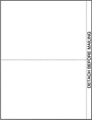 TOPS® W2 or 1099 Blank Front and Back Tax Form, 1 Part, 2/page, White, 8 1/2