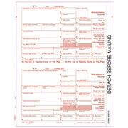"TOPS® 1099MISC Tax Form, 1 Part, Federal - Copy A, White, 8 1/2"" x 11"", 2000 Sheets/Carton"