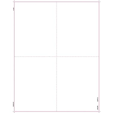 TOPS® 1099R Tax Form, 1 Part, 4 Up Blank Front w/B & C Backers, White, 8 1/2