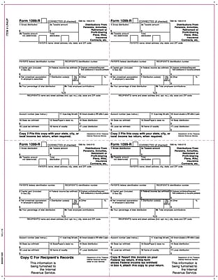 TOPS® 1099R Tax Form, 1 Part, Laser, White, 8 1/2