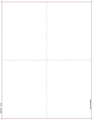 TOPS® W-2 Tax Form, 1 Part, Blank face, w/ backers, 24 lb, White, 8 1/2
