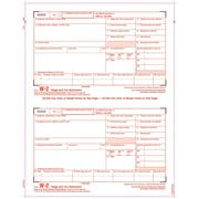 "TOPS® W-2 Tax Form, 1 Part, Copy A, White, 8 1/2"" x 11"", 2000 Sheets/Carton"