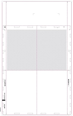 TOPS® W-2 Tax Form, 1 Part, Cut Sheet Blank with Backers, White, 8 1/2 x 14