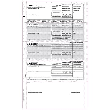 TOPS® W-2 Tax Form, 1 Part, Cut Sheet, ECC Z FOLD, White, 8 1/2 x 14