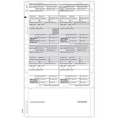 TOPS® W-2 Tax Form, 1 Part, Cut Sheet, White, 8 1/2 x 14