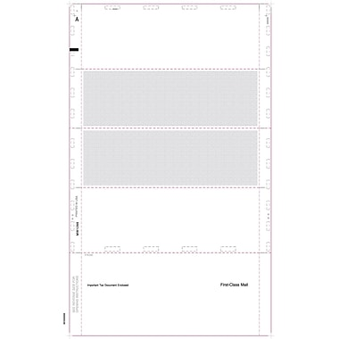 TOPS® W-2 Tax Form, 1 Part, Cut Sheet Blank w/Backer, ECC Z FOLD, White, 8 1/2 x 14, 500 Sheets/Pack