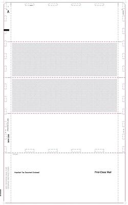 TOPS® W-2 Tax Form, 1 Part, Cut Sheet Blank w/Backer, ECC Z FOLD, White, 8 1/2 x 14, 500 Sheets/Pack