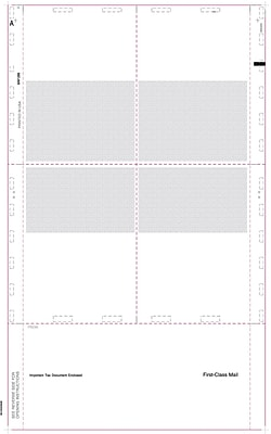 TOPS® W-2 Tax Form, 1 Part, Cut Sheet Blank w/Backer, White, 8 1/2 x 14