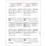 TOPS® W 2 Tax Form, 1 Part, Laser, Employee Copies Cut Sheet, White, 8 1/2  X 11, 50 Sheets/Pack