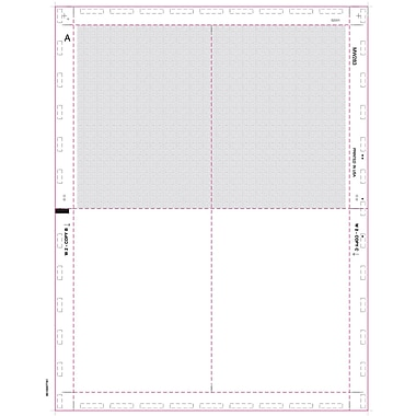 TOPS® W-2 Tax Form, 1 Part, Cut Sheet Blank w/Backers, White, 8 1/2