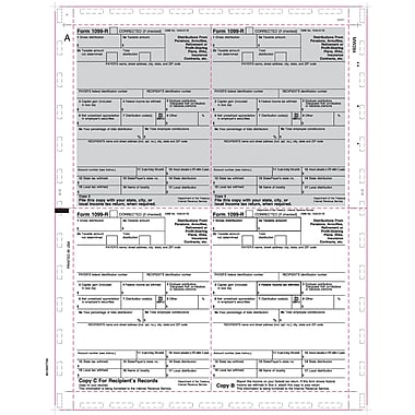 TOPS® 1099R Tax Form, 1 Part, Cut Sheet, White, 8 1/2