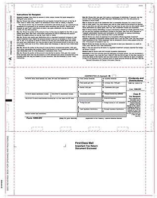 TOPS® 1099DIV Tax Form, 1 Part, White, 8 1/2