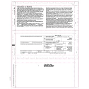 """TOPS® 1098T Tax Form, 1 Part, White, 8 1/2"""" x 11"""", 500 Sheets/Pack"""