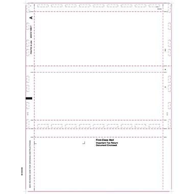 TOPS® 1098T Tax Form, 1 Part, Cut Sheet-Blank w/Backer, White, 8 1/2
