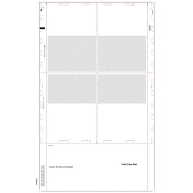 TOPS® 1099R Tax Form, 1 Part, Cut Sheet w/Blank Backers, White, 8 1/2 x 14