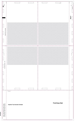 TOPS® 1099R Tax Form, 1 Part, Cut Sheet w/Blank Backers, White, 8 1/2 x 14