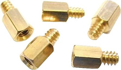 StarTech Replacement PC Mounting #6-32 to M3 Metal Jack Screw Standoff 50 Pack
