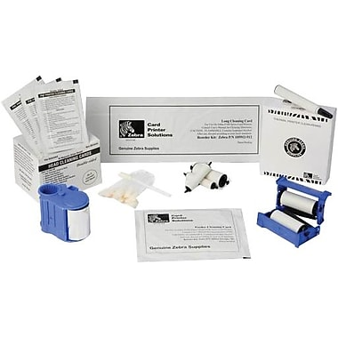 Zebra® 104531-001 Cleaning Card Kit for P205 Card Printers, 100/Box