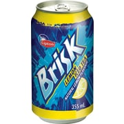 Brisk Lemon Iced Tea, 355 mL Cans, 12-Pack