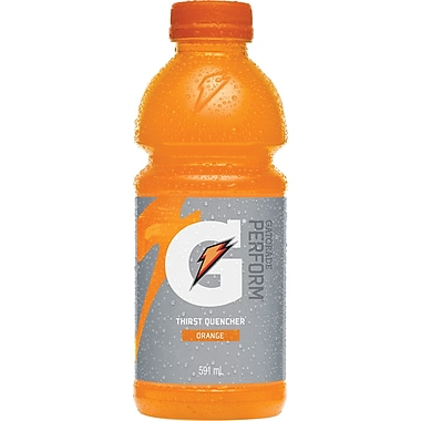 Gatorade Perform, Orange, 591 mL Bottles, 12-Pack