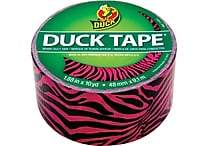 Duck Tape® Brand Duct Tape, Pink and Black Zebra, 1.88'x 10 Yards