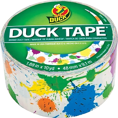 DuckTape® Brand Duct Tape, Paint Splatter, 1.88