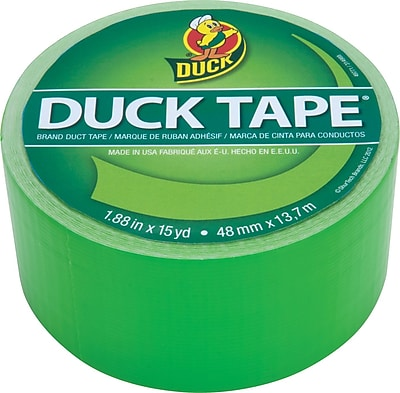 Duck Tape® Brand Duct Tape Island Lime X-Factor™, Neon Green, 1.88