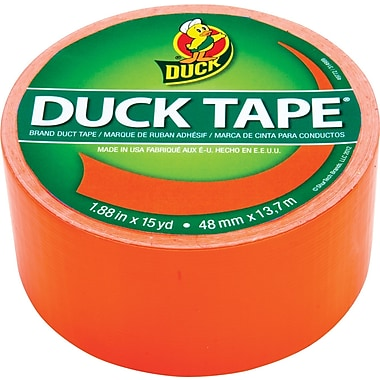 Duck Tape® Brand Duct Tape, Blaze Orange X-Factor™, 1.88
