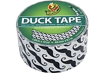 Duck Tape® Brand Duct Tape, Mustache, 1.88'x 10 Yards