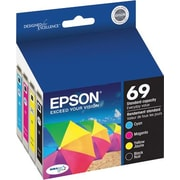 Epson® 69 (T069120-BCS) Black, Cyan, Magenta & Yellow Ink Cartridges, 4/Pack