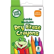 LeapFrog Jumbo Dry Erase Crayons, 8/Pk