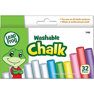 LeapFrog Washable Chalk, Assorted Colors, 32/Pk