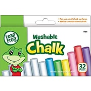 LeapFrog Washable Chalk, Assorted Colors, 32/Pk