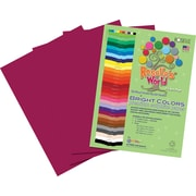 "Roselle Bright Colors Sulphite Construction Paper, 76 lb., Magenta, 12"" x 18"" 50/Pk"