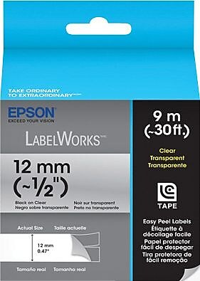LabelWorks Clear LC Tape Cartridge, 1/2