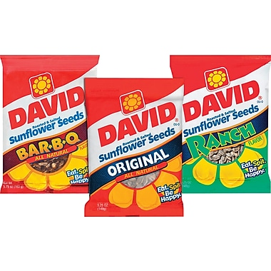 David® Sunflower Seeds, 12 Bags/Box