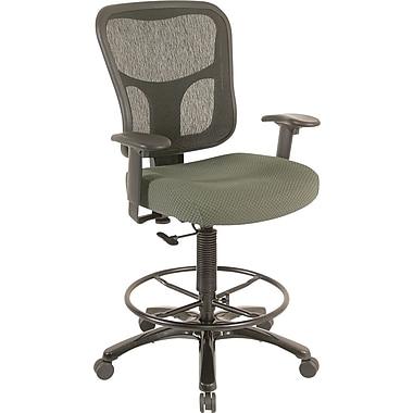 Tempur-Pedic® - Tabouret de dessinateur ergonomique à dossier moyen TP8200, tissu olive