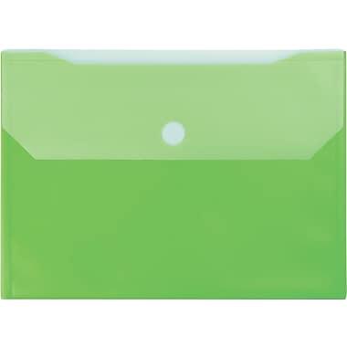 Winnable - Pochettes de classement en poly avec Velcro, vert, paq./12