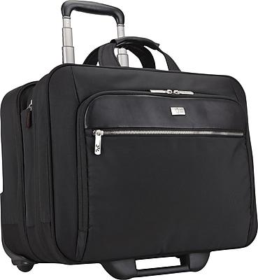 """Case Logic 17"""" Security Friendly Rolling Laptop Case, Black, 14.8""""H x 17.9""""W x 10.6""""D"""