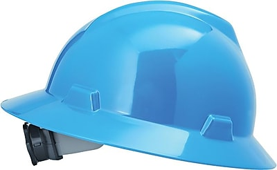 MINE SAFETY APPLIANCES CO. (MSA) Polyethylene & Plastic V-Gard Hard Hat, Blue