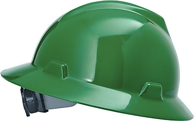 MSA Safety® V-Gard® Non-Slotted Protective Caps and Hard Hats, Polyethylene, Hat, Standard, Green