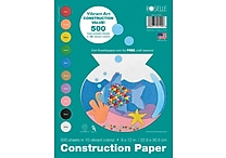 Roselle Vibrant Art Construction Paper 12' x 9', Assorted (01500)