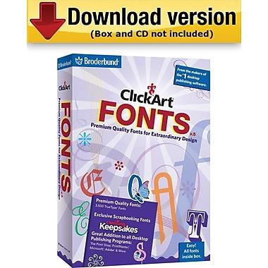 ClickArt – Logiciel Fonts v5 pour Windows (1 utilisateur) [Téléchargement]