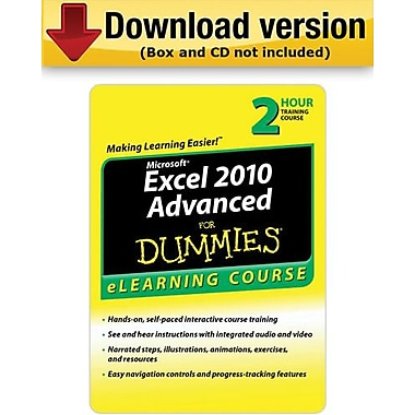 Excel 2010 For Dummies Advanced for Windows (1-User)