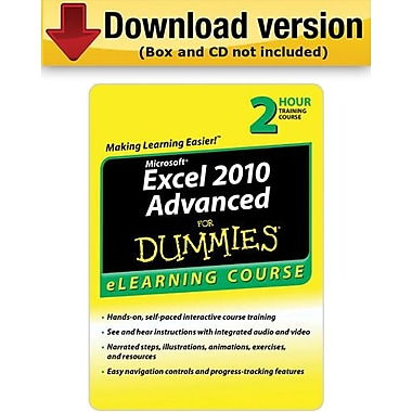 Excel 2010 For Dummies Advanced - 6 Month Access for Windows (1-User) [Download]