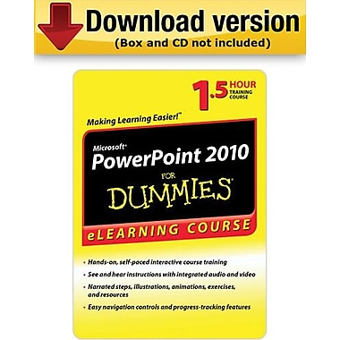 PowerPoint 2010 pour les nuls - 6 mois d'accès, pour Windows (1 utilisateur) [Téléchargement]